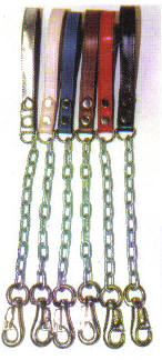 Dog Chain Leashes With Leather Handles