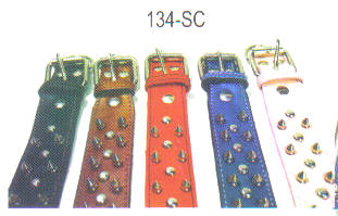 Spicked Leather Dog Collars Sise 1-3/4