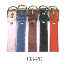 Plain Leather Dog Collar 1 3/8