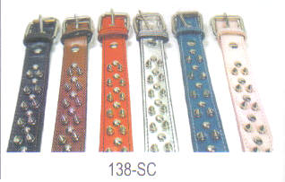 Spicked Leather Dog Collars 