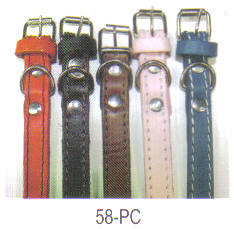 Plain Leather Dog Collar 5/8