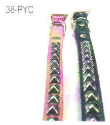 Pyramid Studded Leather Dog Collar 3/8