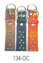 Studded Leather Collars Size 1 3/4