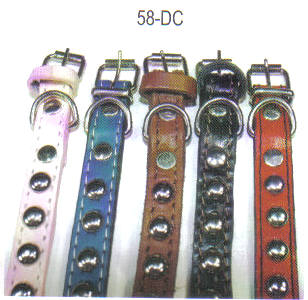 Studded Leather Collars Size 5/8