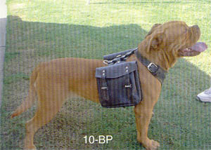 Dog Leather Back Packs Removable Pouches. Back Pack Pouches Come in Sets of 2 and Fit Medium, Large and X- Large Harnesses Only