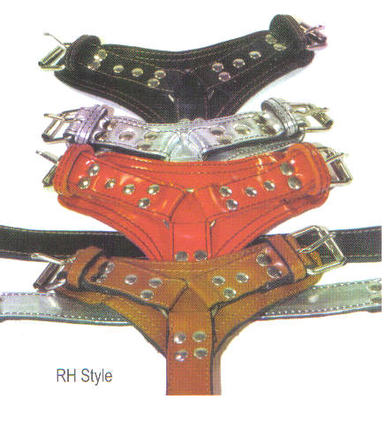 Ring Leather Dog Harnesses By Top Dog