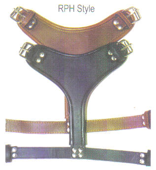Round Edge Plain Lether Dog Harnesses 